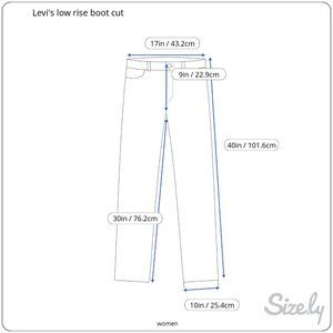 Levi's Jeans - Levi's low rise boot cut jeans